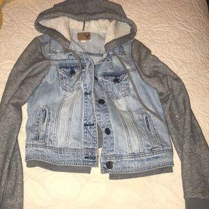 American Eagle hoodie jean jacket